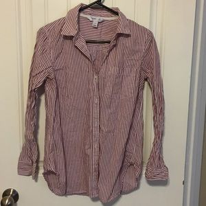 Old Navy Maroon and White Tunic
